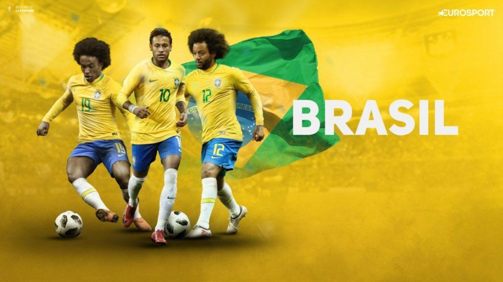 Brazil yellow football kit
