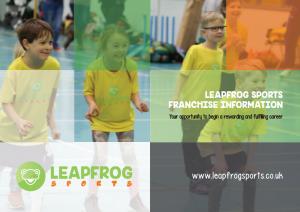 Children's Sport Franchise opportunity available